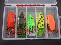 Wholesale Free Ship Pieces Sets Mixed Professional Fishing Lures Lei Frog Lure Baits Tackle Nice Box A7