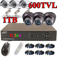 Wholesale CCTV TVL IR Bullet Armour Dome CCD Camera G H DVR Security System