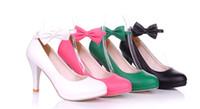 Wholesale newest womens fashion shoes sexy heels cm ol career bandage bow dress wedding shoes size US