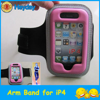 Wholesale sports arm band clip Gym phone cover OS holder fabric case running wrist armband protector pouch