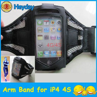 Wholesale mesh shaped black breathable GYM arm band cover wrist armband sports skin case pouch clip phone OS