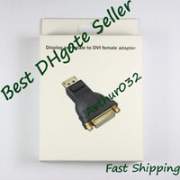 Wholesale Promotion New Display Port Male to DVI Female Converter Adapter For Laptop Computer PC Black