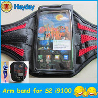 banding clamp - Black S2 sports case clip Gym cover clamp armband sports pouch Galaxy i9100 S II protector arm band