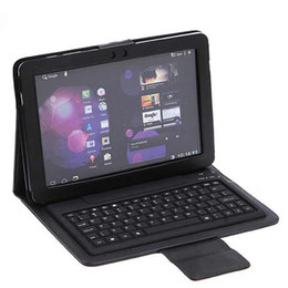 Wholesale 9 quot Wireless Bluetooth Leather Case Cover with Keyboard for inch iPad2 iPad3 Tablet PC