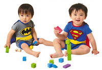 Wholesale Hot Sale Baby Cotton romper suit Superman spiderman rompers boys costumes Toddlers bodysuits tights