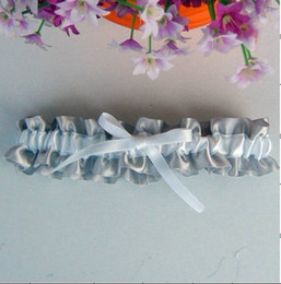 Wholesale 30pcs Drop shipping silver Bride Garters with bow can custom any colour