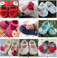 Wholesale cotton crochet handmade baby shoes Children months soft shoes ccx42