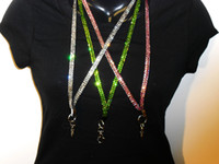 bling lanyards - BEST Bling Bling Lanyard Crystal Rhinestone in neck with claw clasp ID Badge Holder for phone