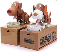 Wholesale Hot Selling New Choken Puppy Eating Dog Kids Coin Bank Saving Box