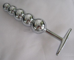1PC Stainless steel Anal plug Butt plug Booty Beads Stainless steel 5 beads Sex Anal toys