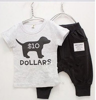 Wholesale Baby Clothes Kids Wear Children Clothing Set T Shirt Pants Baby Wear Children Suit