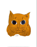 One Panel andy warhol cat - Modern Art Glod Cat c by Andy Warhol oil painting Canvas High quality Hand painted