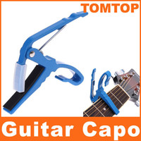 Wholesale Blue Quick Change Clamp Key Capo For Electric Guitar I42