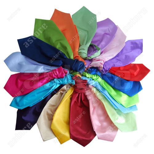 Wholesale 10 Pcs/lot + New children Plain Silk Wedding Scrunch Ruche Cravat Tie made of Polyester and silk