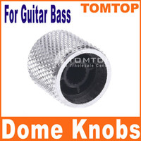 Wholesale Silver Black Metal Dome Knob for Electric Guitar Bass Parts Made of Metal I44 I44S