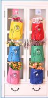 Wholesale fashion Wall door back Hanging Storage Bag Pockets container box holder Cartoon creative Decoration