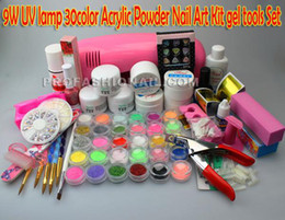 Wholesale Full Set Acrylic Powder UV Gel Brush Pen UV Lamp Nail Art DIY Manicure kit NA888