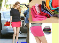 Wholesale fashion girl ladies Candy Color Mini Penci Bandage short Skirt A line dress Sexy color Stretch St