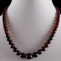 Wholesale Pretty Jewelry Garnet Chunky Gemstone Bead Necklace quot ZH1