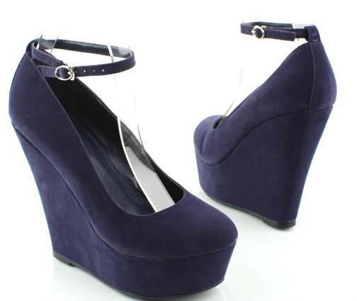 Wedge Shoes Buckled Lady Fashion Shoes Platform Shoes Lady Pumps Dress