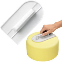 Wholesale Cake Smoother Decorating Polisher Sugarcraft Sharp Edge Kitchen Fondant Tool New