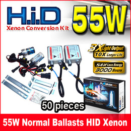 50pcs 55W NORMAL BALLASTS HID XENON CONVERSION KIT GENUINE AC A C DIGITAL BALLASTS H1 H3 H4 H7 9-16V