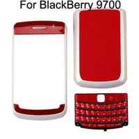 Wholesale Replacement Piece Housing For BlackBerry Red With Pearl White set
