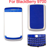 Wholesale 4 Piece Housing For BlackBerry Blue With Pearl White set