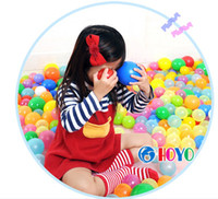 Wholesale 7CM wave ball baby ocean ball PE plastic balls funny toys tent balls water pool ball