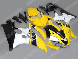 Yellow white ABS Fairings for 2006 2007 YZF R6 YZFR6 06 07 YZFR 6 YZF-R6 full fairing kit bodywork
