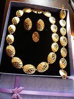 Fashion Jewelry Sets HA093 Golden Inlaid Zircon Luxury Alloy...