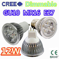 Wholesale Retail High power CREE W x3W Dimmable GU10 MR16 E27 E14 GU5 Led Light Lamp Spotlight led bulb