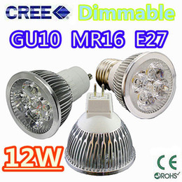 Wholesale Retail High power CREE W W W Dimmable GU10 MR16 E27 E14 GU5 Led Light Lamp Spotlight led bulb