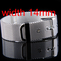 Wholesale Top Sale Pin Buckle Clasp Mesh Bracelets Vogue Silver Free Size Watchband Bracelets