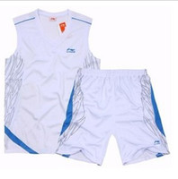 Wholesale Basketball Jerseys Made in China CBA Jeyseys White color mix order Hot