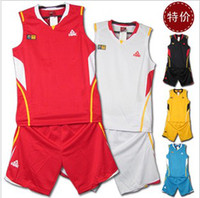 Wholesale Basketball Jerseys Made in China CBA Jeyseys Blue Black Yellow color mix order Cheap