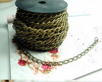 Wholesale DIY Jewelry Accessories Chain Necklace and Bracelet Chain Alloy Bronze m