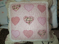 Wholesale Pretty Heart embroidery quilt Patch Cushion Cover