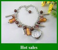 Wholesale fashion bracelets wristwatches Color glass sports quartz watch shamballa piece
