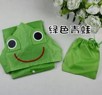 Wholesale Baby Funny Raincoat Kid s Children linda Cartoon Strawberry Auto Duck Bunny Frog Raincoat