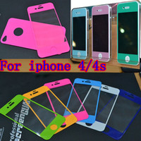Wholesale Bullkin colored Screen Guard for iphone g s gs cellphone protection film screen protection