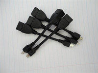 Wholesale 100pcs Micro USB Host Cable OTG cm mini usb cable for tablet pc mp4 mp5 Freeshipping