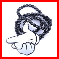 rosary for man - Plastic Rosary Necklace For Women Fashion Necklaces for Men Unisex Pistol Hip hop Necklace jewelry XL10A