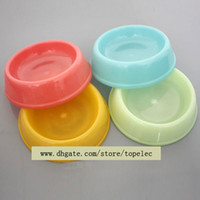 Wholesale Pet Shop Supplies Plastic Pet Dogs Cat Food Water Bowl Dish New