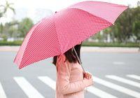 Wholesale fashion sweet candy dot compact totes Anti uv Sun rain Folding Pencil umbrella colors easy carry g