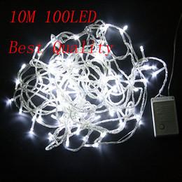 2pcs lot New 100 LED 10M white String Fairy Light XMAS Christmas Party Wedding lights Twinkle lights