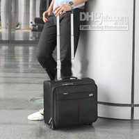 Wholesale leather luggage bags travel bags suitcase for both men and women top quali