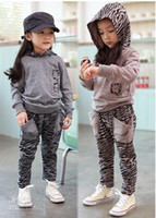 Wholesale 2012 NEW Girls suit The new spring clothing lovely leopard grain suit hfg