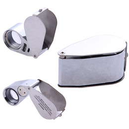 Wholesale Mini Whistle Shaped Glass LED Illuminated Jewerly Loupe Eye Magnifier Magnifying for Tiny Objects