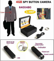Wholesale Button Secret Spy x480 GB Digital Video Camera with Telescope Zoom Lens free drop shipping